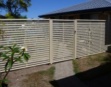 Ashley's Fencing – Gold Coast Fencing – Slat/Privacy Fencing